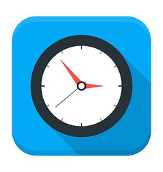 Clock app icon with long shadow vector