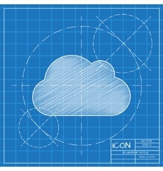 cloud icon Eps10 vector image