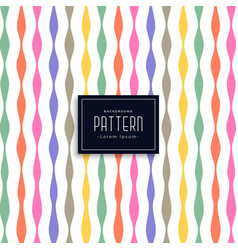 Colorful ribbon style birthday pattern background vector