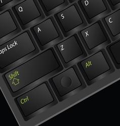 Computer keyboard black vector