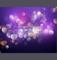 creative bokeh lights and glitter background vector image
