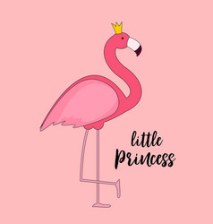 cute little princess abstract background with pin vector image