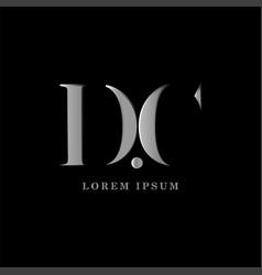 dc letter logo template graphic design vector image
