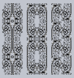 Decorative borders in vintage style vector