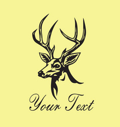Deer logo template design vector