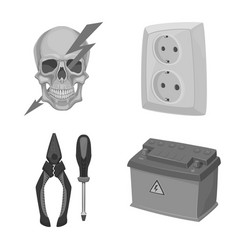 design of electricity and electric icon vector image