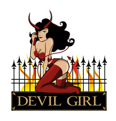 devil girl vector image