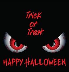 Evil eyes Halloween background vector
