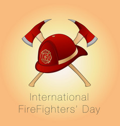For international firefighters day vector