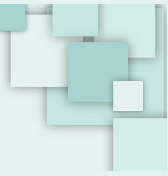 geometric background with white 3d squares vector image