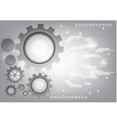 gray technology gear abstract background vector image