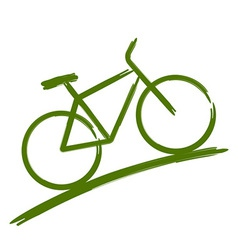 Green bike vector