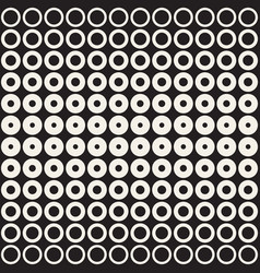 halftone circles seamless pattern abstract vector image