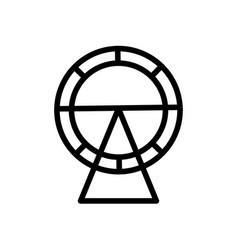 Hamster wheel line vector