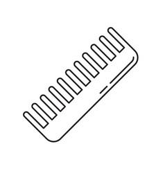 Handleless hair comb icon linear barbershop logo vector