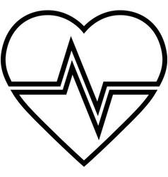 Heartbeat line icon vector