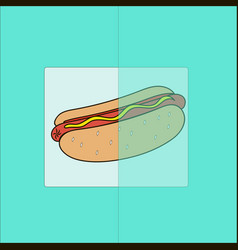 hot dog on a turquoise background vector image