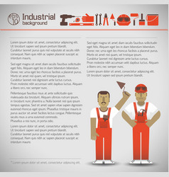 industrial workers background vector image