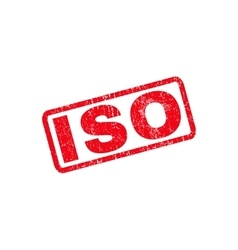ISO Rubber Stamp vector image