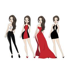 lady dress vector image