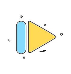 media buttons icon design vector image