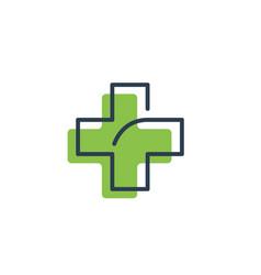 Medical cross and health pharmacy logo template vector