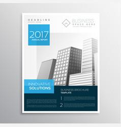 modern elegant blue brochure design layout vector image