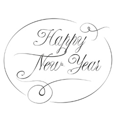 New year lettering in victorian calligraphy style vector