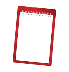 Notebook blank with spiral red vector