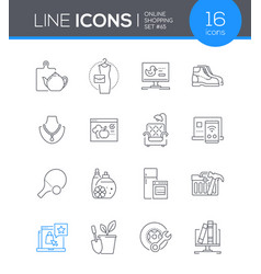 online shopping - modern line design style icon vector image