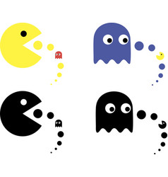 Pac man icon vector