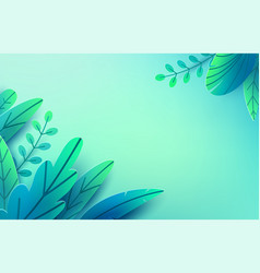paper spring leaves background paper cut vector image