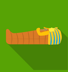 pharaoh sarcophagus icon in flat style isolated on vector image