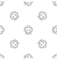polar bear head pattern seamless vector image
