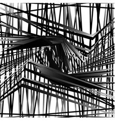 Random chaotic grayscale monochrome geometric vector