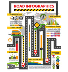 road transport infographics info template vector image
