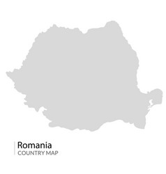 romania map contour romanian map country vector image
