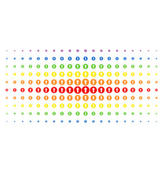 Rounded arrow spectrum halftone pattern vector