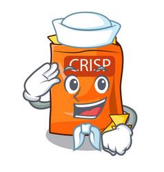 Sailor snack food sticks chisp on cartoon vector