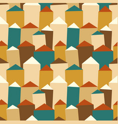 seamless pattern with houses and roofs vector image