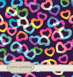 Seamless rainbow hearts vector