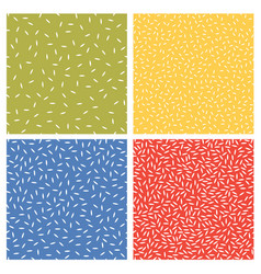 set seamless abstract texture patterns vector image