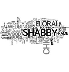shabby word cloud concept vector image