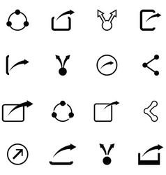 Share icon set vector