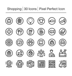 Shopping line icon vector