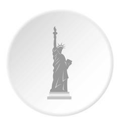 Statue liberty icon circle vector
