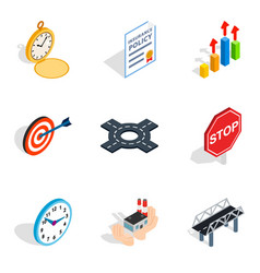 stress relief icons set isometric style vector image