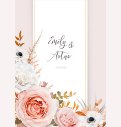 stylish wedding invite invitation card design vector image