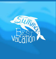 summer best vacation template design element can vector image