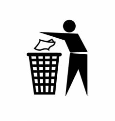 trash symbol vector image